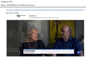 Marcos Martín Blanco y Elena Rueda en TVE
